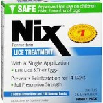 Head Lice packet of Nix pesticide