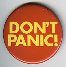 panic attacks best approach is to relax - dont panic badge